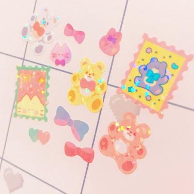 트윙클 Fluffy Bear 칼선 스티커
