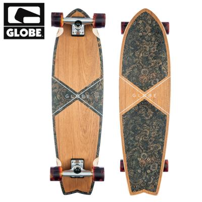 [GLOBE] 33 CHROMANTIC TEAK/FLORAL COUCH EVA TAILPAD CRUISERBOARD