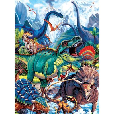 150피스 직소퍼즐 - 공룡들의 세계