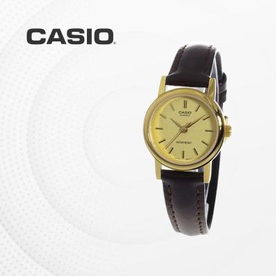 카시오 여성 여자 가죽 빈티지 손목시계 LTP-1095Q-9A