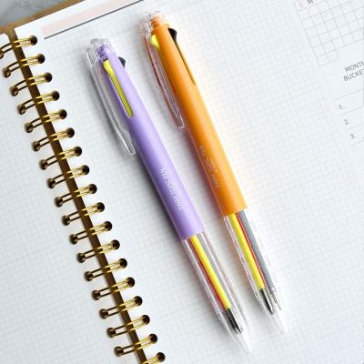 3way Topic Pen (블랙,형광핑크,형광옐로우 3색심)