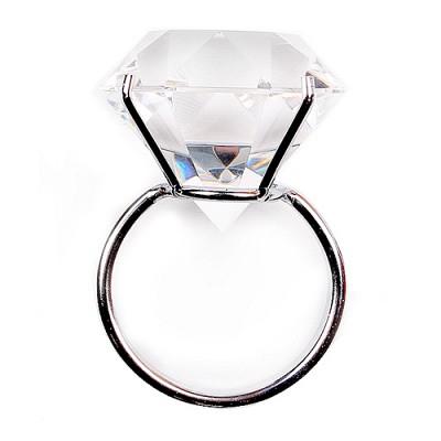 빅 다이아몬드 반지(화이트)