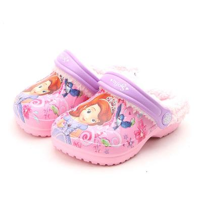 소피아러블리방한 유아동 캐릭터 방한 털 샌들 신발