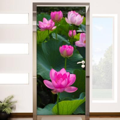 ii866-복을담은연꽃_현관문시트지