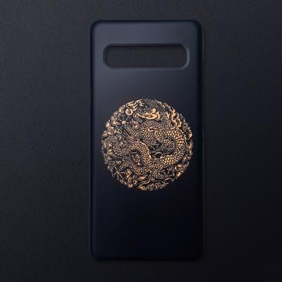 전통문양 왕을 담은 블랙 골드 곤룡포 휴대폰 케이스