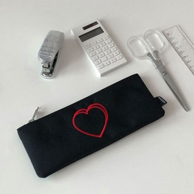 heart pencil case 필통