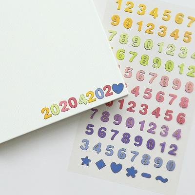 [SET] 기본 금박 스티커 3종 세트 (숫자,알파벳,도형)