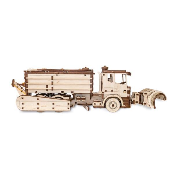 EWA 에코우드아트 3D DIY 입체 나무퍼즐 스노우 트럭
