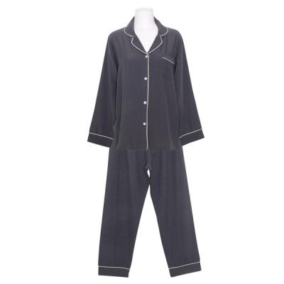 [쿠비카]샌드워싱 폴리 투피스 여성잠옷 W809