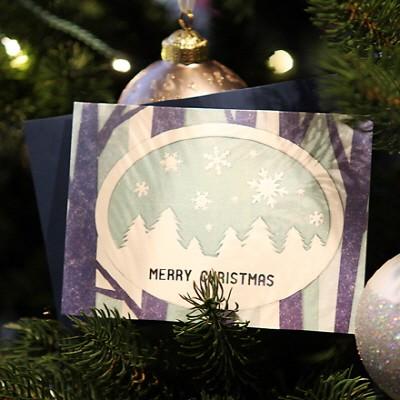 하베스터 크리스마스 카드 - 하얀 숲