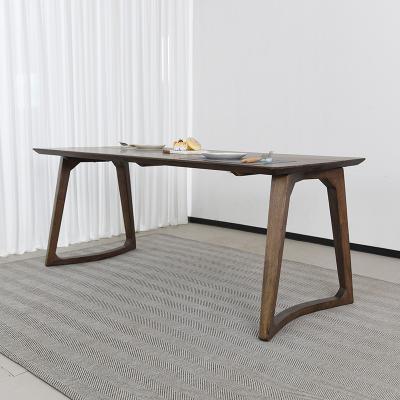 벨루 고무나무 원목 식탁 테이블 6인