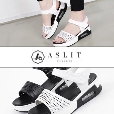 [애슬릿]발 편한 키높이 펀칭 스트랩 스포티 샌들
