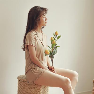 힐링잠옷 모달 숏 팬츠 잠옷 세트_2color