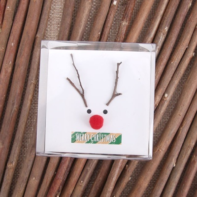 루돌프 크리스마스 카드 [나뭇가지]