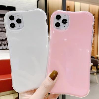 아이폰11 PRO 맥스 유광 단색 슬림 컬러 젤리 케이스