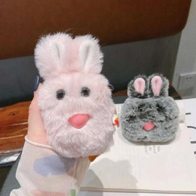 에어팟 1 2세대 프로 커플 토끼 인형 뽀글이 털케이스