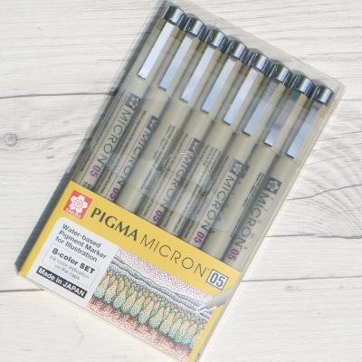 사쿠라 피그마 마이크론 0.45mm 8색세트 05