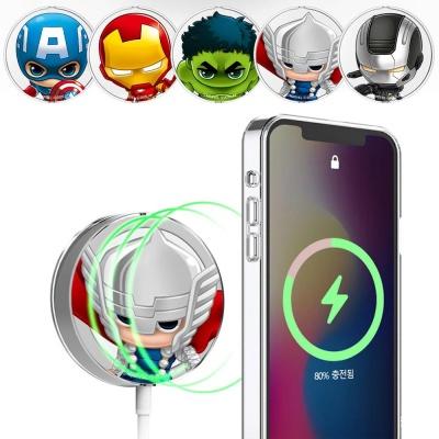 아이폰 맥세이프 충전기 마블 캐릭터 투명 하드케이스
