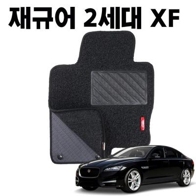 재규어 XF 이중 코일 차량용 차 발 깔판 매트 black