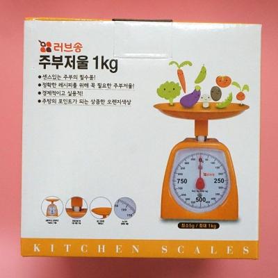 러브송 생활용품 주부 주방저울 1kg 주방용품