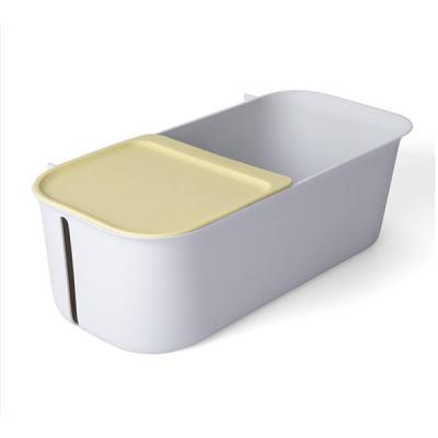 욕실 무타공 롤티슈 보관 2칸분리 다용도 정리 수납함