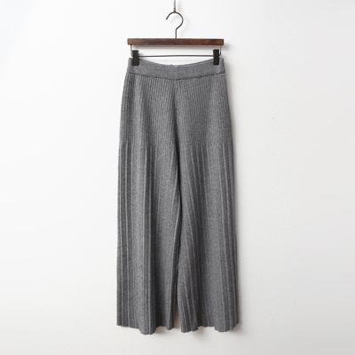 Pleated Knit Wide Pants