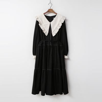 Frill Sailor Cancan Long Dress