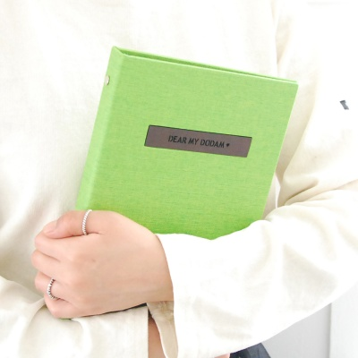 프리미엄 이니셜 임신다이어리/태교일기-그린