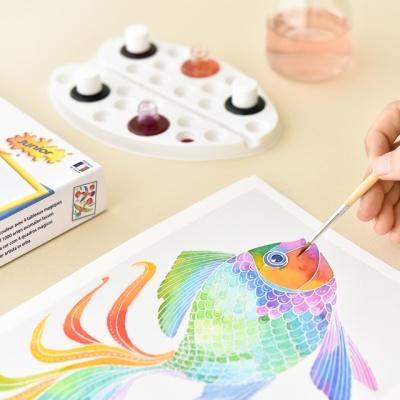 센토스피어 DIY 수채화 그리기 키트, 수채화 컬러링