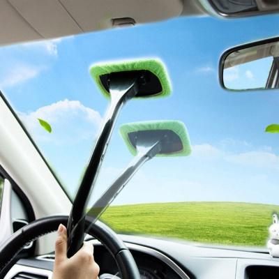 그린 자동차 앞 유리 브러쉬 청소기 세정 윈도우