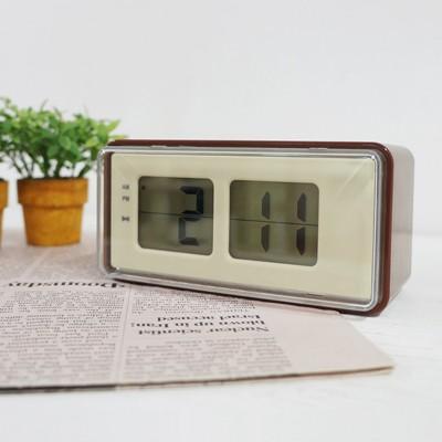 [시우아트] 플립스타일 디지털 탁상 알람시계