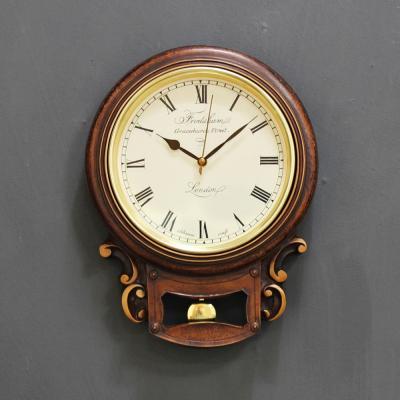 (krod019)저소음 레트로 원형벽시계(수지)