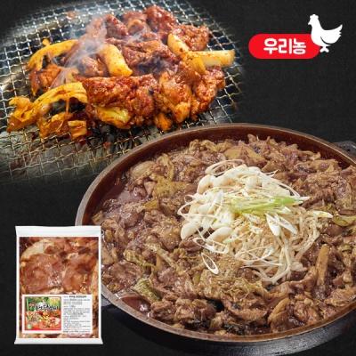 국내산 닭고기로 만든 춘천 간장 왕닭갈비 1kg