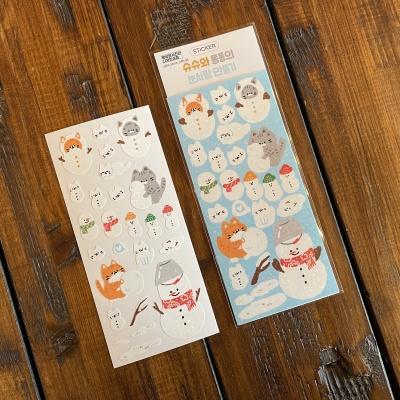 슈슈와 동동의 눈사람 만들기 스티커