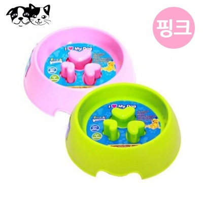 토리 쏠레일 급체방지식기 (핑크) (강아지 식기)
