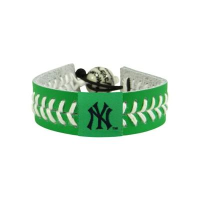 New York Yankees St. Patrick's Baseball Bracelet