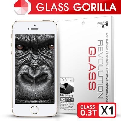 [프로텍트엠] 레볼루션글라스 고릴라 0.3T 강화유리/방탄액정보호필름 아이폰5s/5c/5 iPhone5s/5c/5