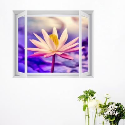 ct033-행운가득아름다운연꽃_창문그림액자(중형)