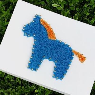 말 블루 스트링아트(스펀지)