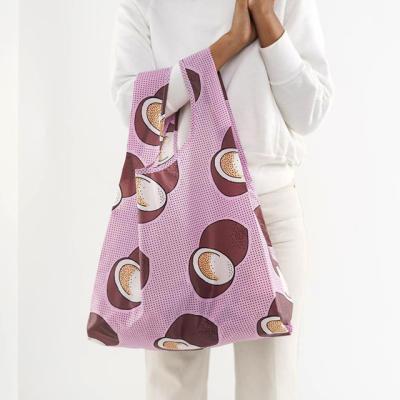 [바쿠백] 휴대용 장바구니 시장가방 Pink Coconut