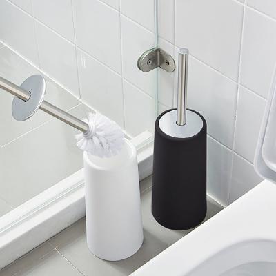 욕실청소 위생적인 일체형 스텐덮개손잡이 변기솔TB10