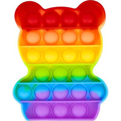 레인보우 푸쉬 팝 버블 - 동물 곰돌이