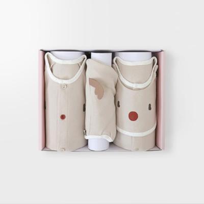 루돌프 아기 백일선물세트(내의+우주복+모자)_겨울용
