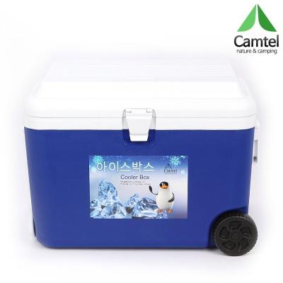 [캠텔] AS6000 60리터 대용량 캠핑 쿨러 블루/오렌지