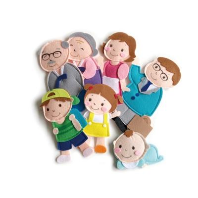펠트 부직포 유아 자석 놀이 학습 교구 가족