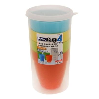 밀폐 야외용 컵 4P