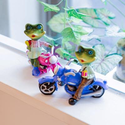 카리스마 개구리 오토바이 커플2P 인테리어 장식소품