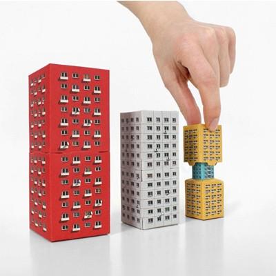 모던 페이퍼 빌딩 4in1 빌딩 - Modern Paper Building