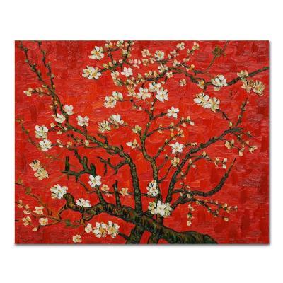 DIY 페인팅 붉은 배경의 아몬드꽃 나무 PH09 (50X40)