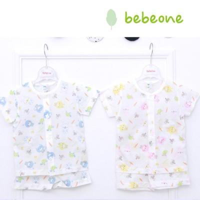 [베베원] 시원한 바니 반팔내의 2종택1 무형광 신생아 아기 출산 국내생산 선물